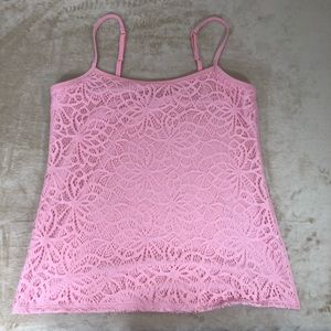 ⭐️5 for 25⭐️ New York and Co. Pink Laced Cami